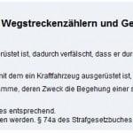 Missbrauch von Tachojustierung in Deutschland