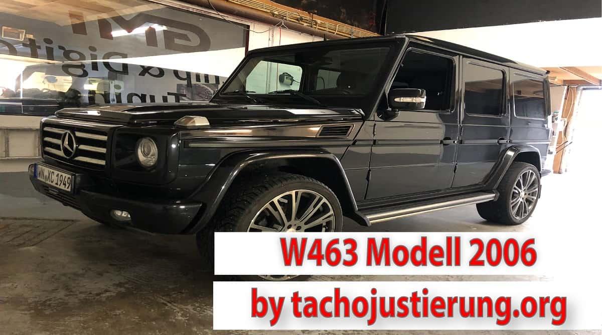 Tachojustierung Mercedes G W463 ab 2006