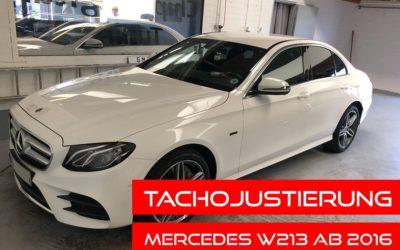 Tachojustierung Mercedes W213 E Klasse